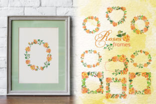 Print on Demand: Roses Watercolor Yellow Graphic Illustrations By MyStocks 5