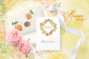 Print on Demand: Roses Watercolor Yellow Graphic Illustrations By MyStocks 6