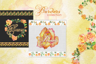 Print on Demand: Roses Watercolor Yellow Graphic Illustrations By MyStocks 7