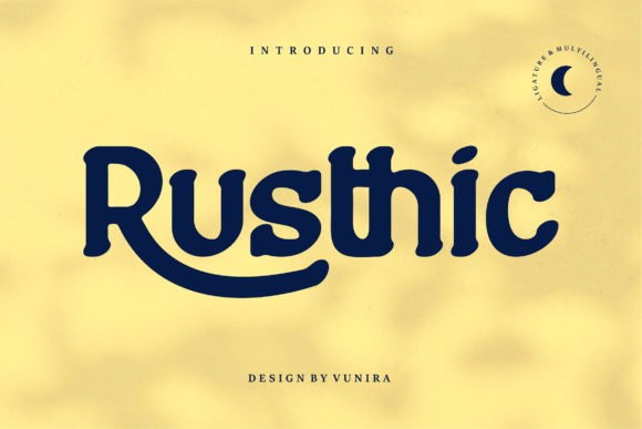 Print on Demand: Rusthic Display Schriftarten von Vunira