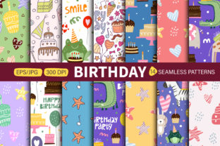 Print on Demand: Seamless Patterns Happy Birthday. Graphic Patterns By FindsArtDesign