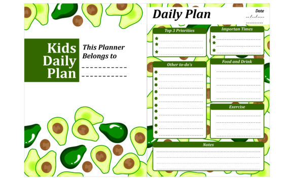 Print on Demand: Simple KDP with Avocado Fruit Theme Grafik Plotterdateien von Arief Sapta Adjie