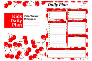 Print on Demand: Simple KDP with Cherry Fruit Theme Graphic Crafts By Arief Sapta Adjie