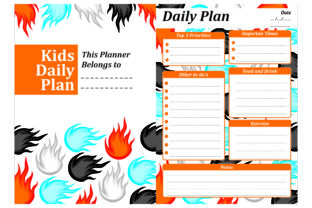 Print on Demand: Simple KDP with Fire Theme Graphic Crafts By Arief Sapta Adjie