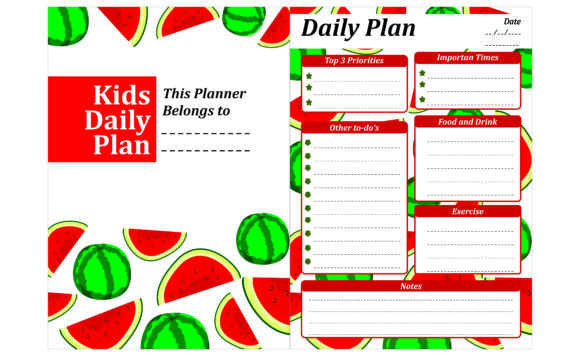 Print on Demand: Simple KDP with Watermelon Fruit Theme Gráfico Crafts Por Arief Sapta Adjie