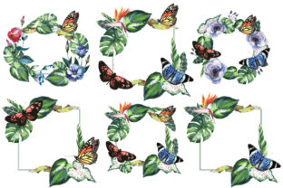 Print on Demand: Tropical Clipart Watercolor Graphic Illustrations By MyStocks 13