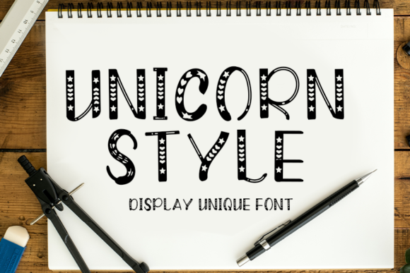 Print on Demand: Unicorn Style Display Font By FL Space