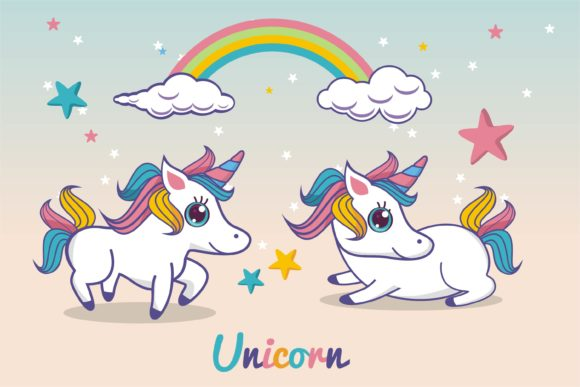 Print on Demand: Unicorn Cute Fantasy Character Graphic Illustrations By edywiyonopp