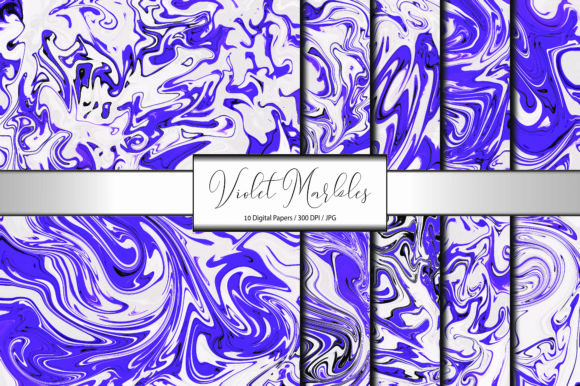 Violet Marble Pattern Background Canvas Graphic Backgrounds By porlawatsangyoo