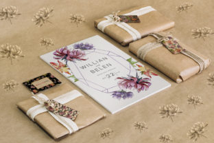 Print on Demand: Watercolor Asters Design Set Graphic Illustrations By MyStocks 4