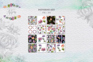 Print on Demand: Watercolor Asters Design Set Graphic Illustrations By MyStocks 7