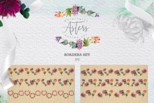 Print on Demand: Watercolor Asters Design Set Graphic Illustrations By MyStocks 9