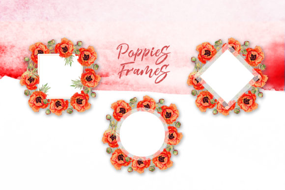 Print on Demand: Watercolor Red Poppy Set Graphic Illustrations By MyStocks - Image 2