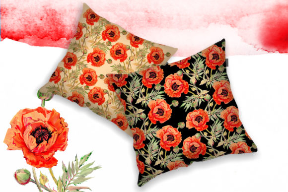 Print on Demand: Watercolor Red Poppy Set Graphic Illustrations By MyStocks - Image 4