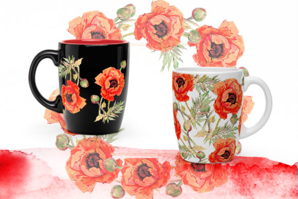 Print on Demand: Watercolor Red Poppy Set Graphic Illustrations By MyStocks - Image 5