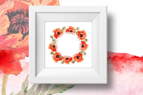 Print on Demand: Watercolor Red Poppy Set Graphic Illustrations By MyStocks - Image 7
