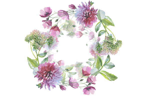 Wild Flowers Watercolor Set Graphic Graphic