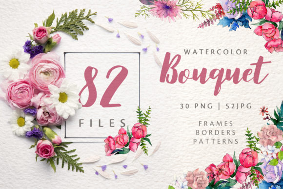 Print on Demand: Wonderful Rose Bouquet Watercolor Graphic Illustrations By MyStocks