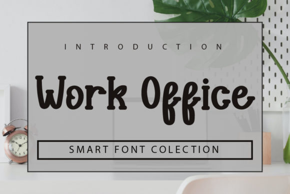 Print on Demand: Work Office Display Font By mizanstudio