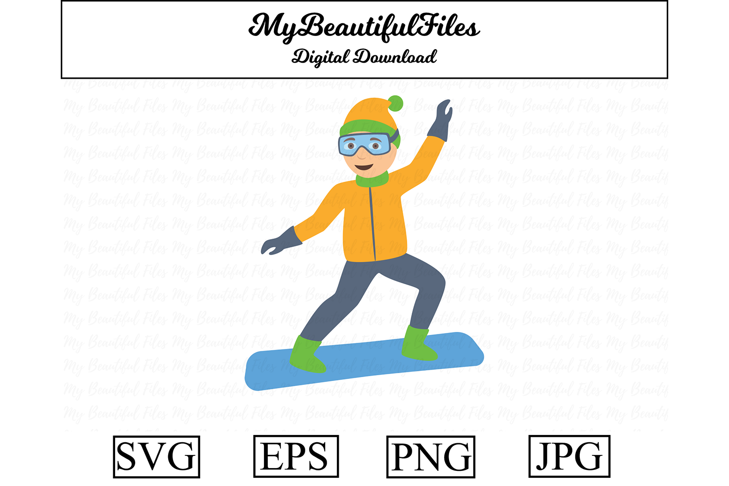 Snowboarder Clipart Illustration Graphic By Mybeautifulfiles Creative Fabrica