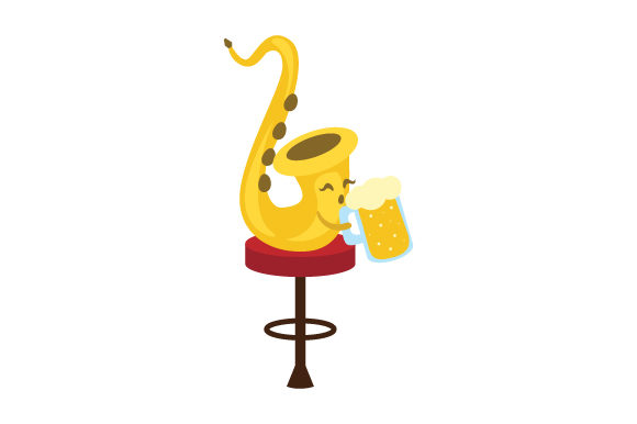 Beer Saxophone Music Craft Cut File By Creative Fabrica Crafts