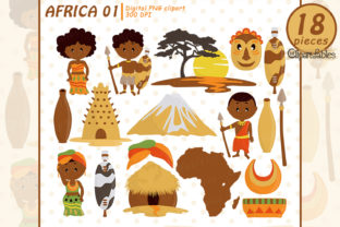 African Clipart, Travel Art, Zulu Tribe Graphic Illustrations By clipartfables