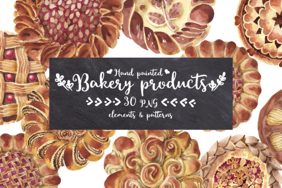 Print on Demand: Baking Bread-bakery Watercolor Graphic Illustrations By MyStocks