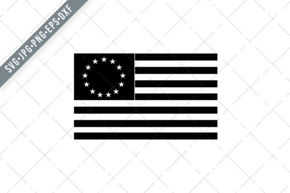 Print on Demand: Betsy Ross Flag Graphic Illustrations By patrimonio