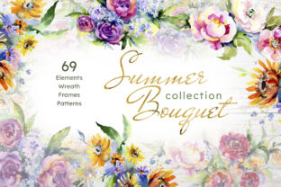 Print on Demand: Bouquet of Flowers Between Heaven Graphic Illustrations By MyStocks 1