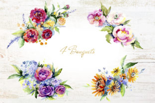 Print on Demand: Bouquet of Flowers Between Heaven Graphic Illustrations By MyStocks 3