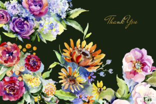 Print on Demand: Bouquet of Flowers Between Heaven Graphic Illustrations By MyStocks 7