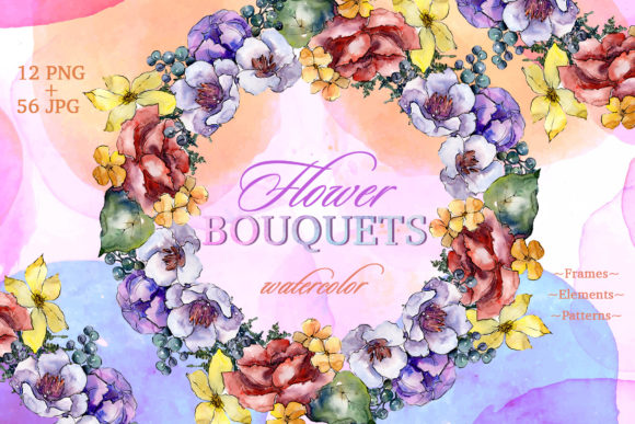 Print on Demand: Bouquets Surprise Watercolor Graphic Illustrations By MyStocks