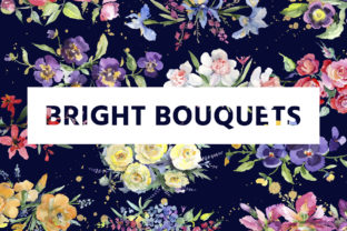 Print on Demand: Bright Bouquet of Watercolor Flowers Graphic Illustrations By MyStocks