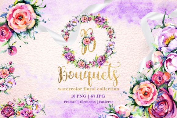 Print on Demand: Bright Bouquets Watercolor Graphic Illustrations By MyStocks