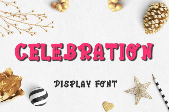 Print on Demand: Celebration Display Font By PearlyDaisy