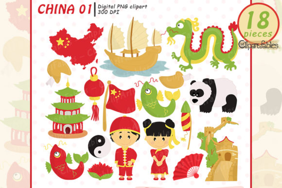 China Clipart, Chinese New Year Graphic Illustrations By clipartfables