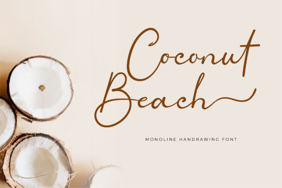 Print on Demand: Coconut Beach Script & Handwritten Font By twinletter