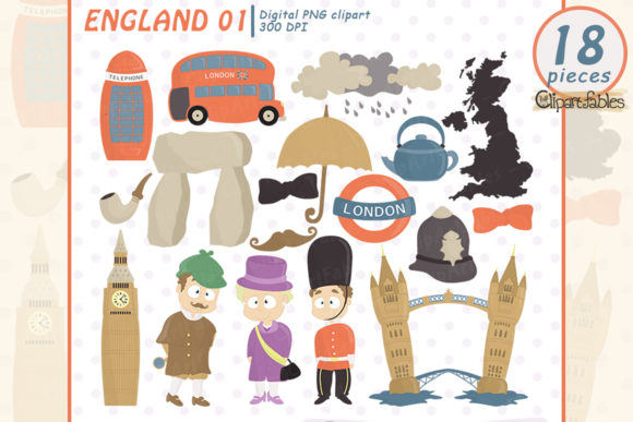 Cute London England Clipart Graphic Illustrations By clipartfables