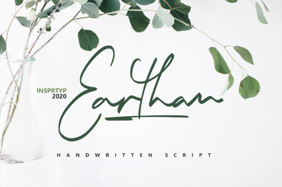 Print on Demand: Earthan Script & Handwritten Font By InspiraType - Image 1
