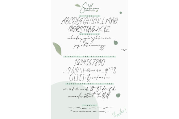 Print on Demand: Earthan Script & Handwritten Font By InspiraType - Image 5