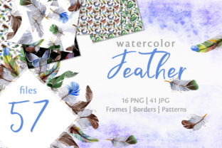 Print on Demand: Feather Watercolor Graphic Illustrations By MyStocks