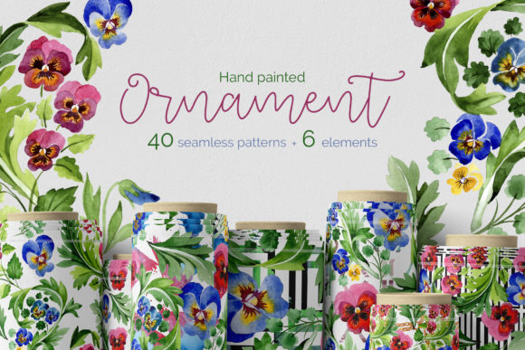 Print on Demand: Floral Ornament Patriot Ukraine Watercolor Graphic Illustrations By MyStocks