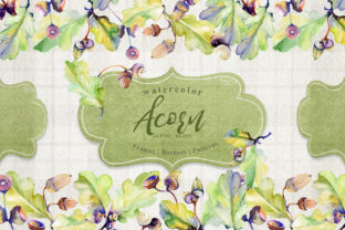 Print on Demand: Forest Acorn Watercolor Set Graphic Illustrations By MyStocks 1