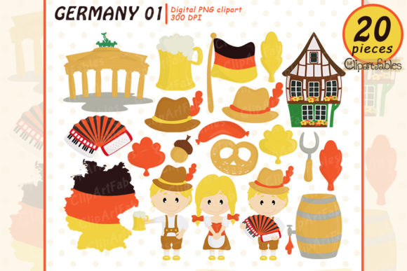 Germany Octoberfest Clipart Graphic Illustrations By clipartfables
