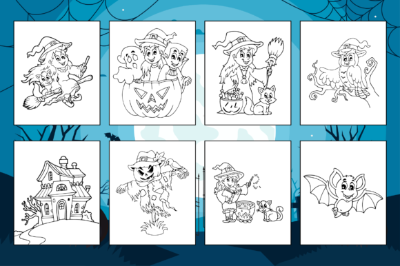 Print on Demand: Halloween Coloring Pages for Kids Graphic Coloring Pages & Books Kids By Fox Design Studio - Image 2