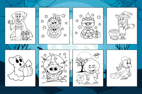 Print on Demand: Halloween Coloring Pages for Kids Graphic Coloring Pages & Books Kids By Fox Design Studio - Image 3