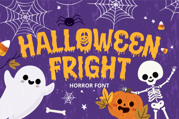Print on Demand: Halloween Fright Display Font By brithostype - Image 1