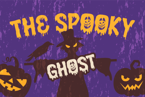 Print on Demand: Halloween Fright Display Font By brithostype - Image 4