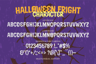 Print on Demand: Halloween Fright Display Font By brithostype 5