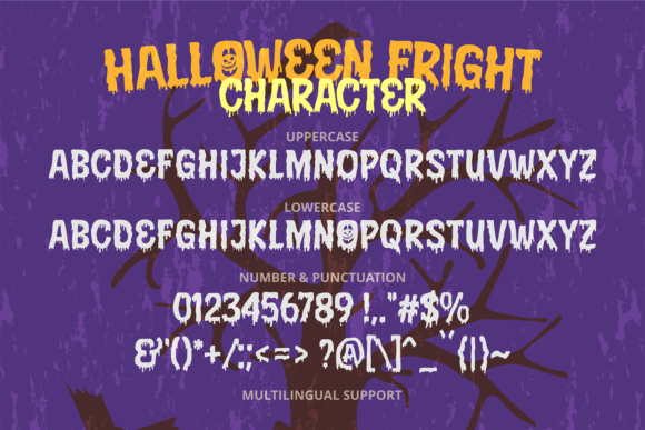 Print on Demand: Halloween Fright Display Font By brithostype - Image 5